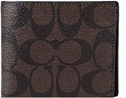 "Coach Men""s Signature PVC Wallet - Black"