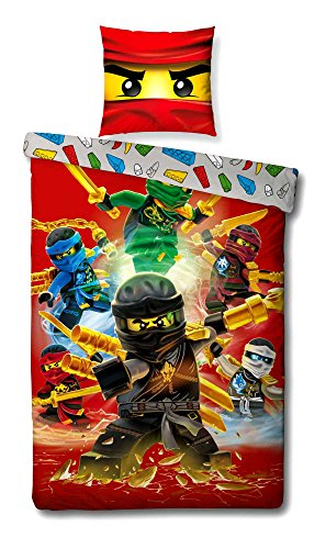 Lego Ninjago Kinder-Bettwäsche Fire Champion - 135x200 cm ...