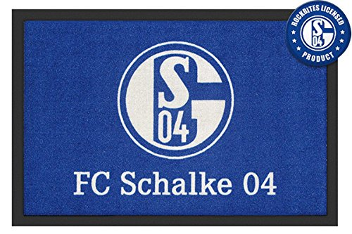 Close Up FC Schalke 04 Fußmatte Logo 60x40cm, Rutschfeste Unterseite, offiziell lizenziert
