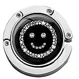metALUm Taschenaufhänger in runder Form Smiley in Silber