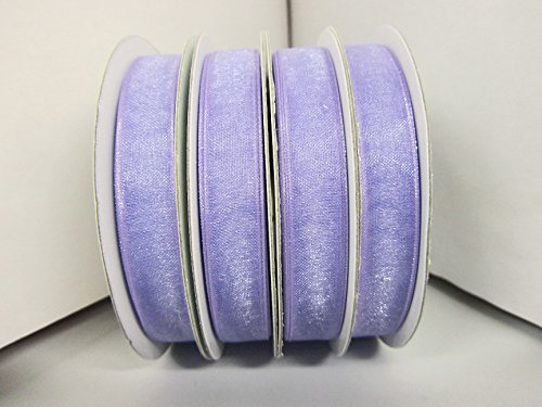 25 yards Spool Sheer Organza 3/8 Ribbon 9mm/Craft/wedding OR38-Lilac US Seller Ship Fast by www.embellishmentworld.com -