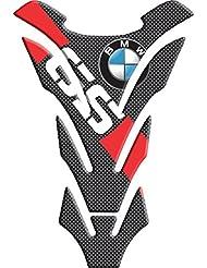 Motoking tanque pad compatible ETIQUETAS 3D-ETIQUETA '' BMW GS roja '- tanque de la motocicleta y la protección de la pintura universal