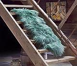 ESTRO | ISLÄNDISCHER Doppel-Schaffell Lammfell Teppich | Glänzend und luxuriös | Farbvielfal (Grün, 190 cm)