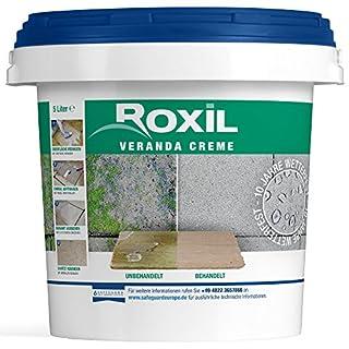Roxil Veranda Creme - 10 Jahre Witterungsschutz für Veranden und gepflasterte Flächen - 5 Liter