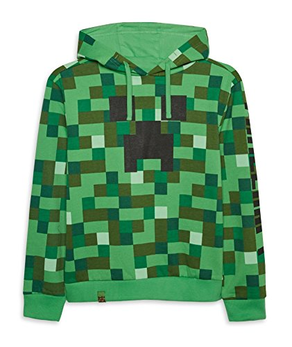 Minecraft Creeper Kids Hoodie Pullover New Official Hooded Sweater 6-15 Years