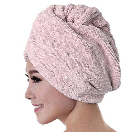 Damen Mikrofaser-Badetuch Haar Dry Hat saugfähig schnell trocknend Dusche Cap (Wickeln Handtuch Damen)