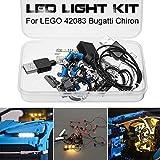 Kit d'éclairage à LED Blocs de construction lumineux de bricolage Voiture Télécommandé, Pour le kit Technique LEGO 42083 Bugatti Chiron, Éclairage LED Bricolage Lumineux Blocs de Construction