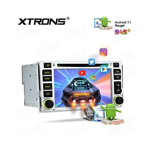 XTRONS 6 2 Inch Android 7 1 Car Stereo HD Digital Multi-touch Screen DVD  Player Radio OBD2 DVR TPMS for Hyundai Santa Fe
