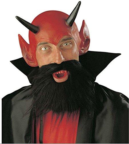 Teufel Kostüm Schnurrbart - Video Delta-Set Kostüm Teufel