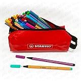 StabiloUltimate Set de coloriageavec stylos à pointe superfine Point 88 + stylos à pointes feutre Pen 68 - Lot de 46stylos avec trousse