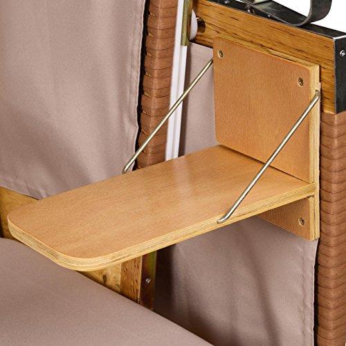 Strandkorb Deluxe Polyrattan Sylt Ostsee Volllieger inkl. 4 x Kissen XL120cm Beige Unifarben - 5