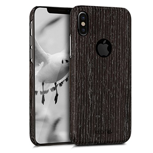 kalibri-Holz-Case-Hlle-fr-Apple-iPhone-X-Handy-Cover-Schutzhlle-aus-Echt-Holz-und-Kunststoff-Mix-Gingkoholz-in-Anthrazit