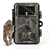 Gosira Wildkamera Fotofalle 12MP 1080P HD Jagdkamera Low Glow Infrarot 42 IR LEDs 20m Nachtsicht Überwachungskamera mit 2.4' LCD Display Bewegungssensor 120°Weitwinkelobjektiv Beutekameras