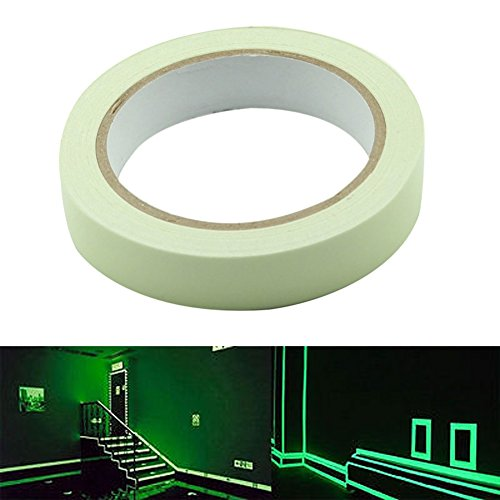 Delaman® Leuchtendes Klebeband Markierungsband Glow in the Dark Selbstklebend Anti-Rutsch Wasserdicht ( Size : 30mm*3m ) (Glow In The Dark-panel)