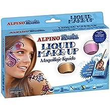 Alpino - Estuche 8 botes maquillaje líquido al agua, 6 gr, 25 cm, color negro (Masats DL000100)