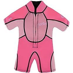 YELLO Sandbar Infant Shorty UPF 50 Plus Combinaison de plongée Fille, Rose, 3 Ans