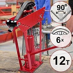 Cintreuse Hydraulique | Pression de Pressage 12 Tonnes, avec 6 Matrices Différentes, pour Tuyaux Ayant un Diamètre de 1,3 à 5 cm, Jusqu'à 90° | Cintreuse de Tuyaux, Presse à Cintrer, Tuyau