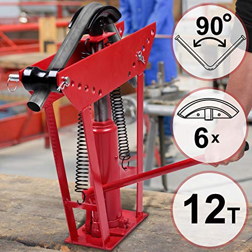 TIMBERTECH RBMS01 Cintreuse de tuyaux | 12T, avec 6 matrices | Presse à cintrer hydraulique