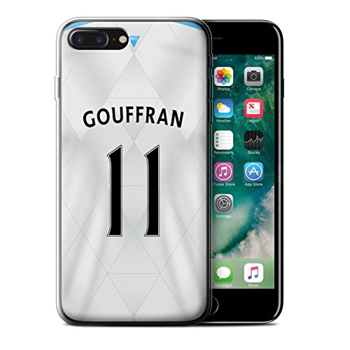 Officiel Newcastle United FC Coque / Etui Gel TPU pour Apple iPhone 7 Plus / Pack 29pcs Design / NUFC Maillot Extérieur 15/16 Collection Gouffran