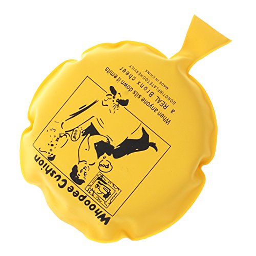 Blesiya cuscino di scherzo scherzetti gags whoopee disegno divertente festa carnevale halloween regalo creativo decorazione casa - giallo