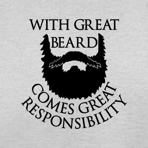 With Great Beard Comes Great Responsibility - Herren T-Shirt - 13 Farben Hellgrau