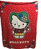 y P: OS Hello Kitty Fleece-Decke - Kuscheldecke - Schlafdecke 135 cm x 170 cm