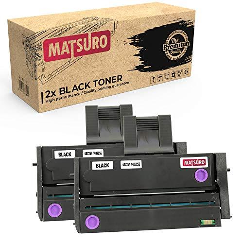 Matsuro Original | Kompatibel Tonerkartusche Ersatz für RICOH 407254 407255 (2 SCHWARZ) - Drucker-tinten-patronen Canon-211