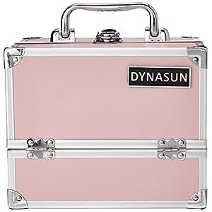 DynaSun BS35 22x17x18cm Rosado Maletín Maquillaje Cosmética Estética Joyas Multiuso Caja Maleta Belleza Cofre Joyas Cabello Estuche