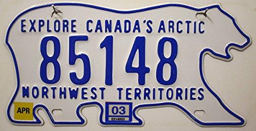 KANADA Nummernschild ~ Canada Metall-Schild ~ KFZ Kennzeichen