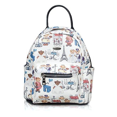 Fency ,  Damen Rucksackhandtaschen Weiß
