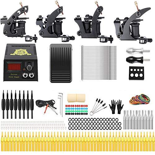 Professionelle großartige Anfänger Tattoo Kit 2/3/4 Maschinengewehre Tattoo Supply UK/EU-Stecker,TK457