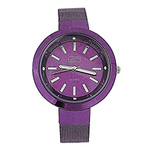 Eton 3081L Purple – Reloj para Mujeres, Correa de Metal Color Morado