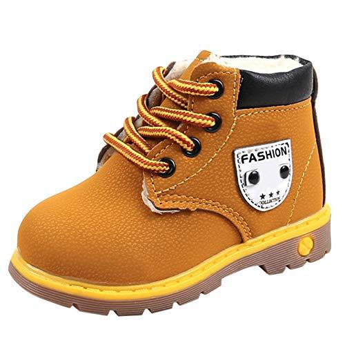 (Beikoard_Babykleidung Plus Baumwolle gepolsterte Booties mit britischen Wind Stiefel Schneeschuhe Schuhe Sneaker Kinder Baby Freizeitschuhe)