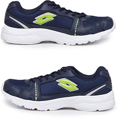 Lotto Men's Navy Blue & Light Green Mesh Sports Shoes UK-9