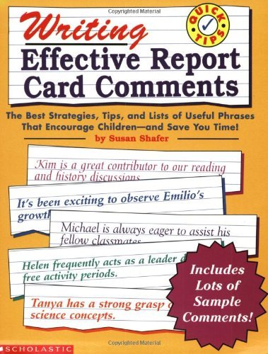 Writing Effective Report Card Comments (Grades 1-6) by Scholastic Books (1999-01-01)