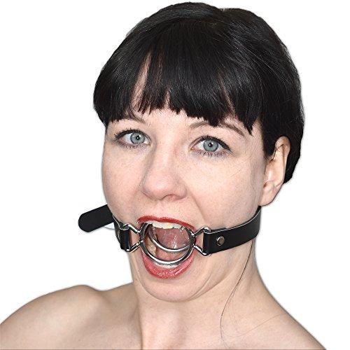 Fetisch Mundknebel mit 2-fach Metallring verschließbar