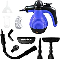 Comforday Upgraded 350ML 1050W Multi-Purpose Handheld Steam Cleaner with Safety Lock and 9 Pieces Accessories for Stains, Carpet, Car Removals UK PLUG