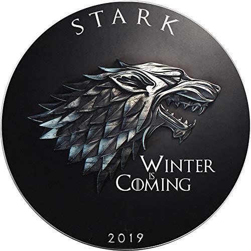 Power Coin STARK Winter kommt Game of Thrones GOT Walking Liberty 1 Oz Silber Münze 1$ USA 2019 -