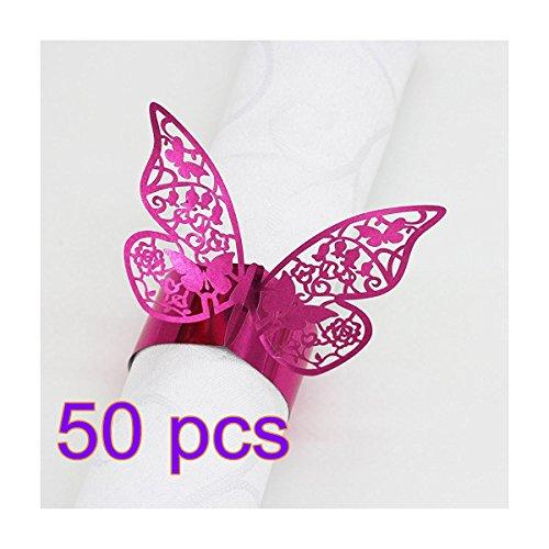 n Karten Serviette Ringe Wrappers Tisch Dekoration Schmetterling Hochzeit Partyzubehör (Serviette-wrapper)