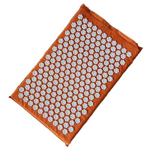 Dyong Cushion Massage Massagegerät Yoga-Matte Akupressur Reliefdruck Zurück Zu Körperschmerzen, Massage Yoga-Matte Kissen (Color : Orange)
