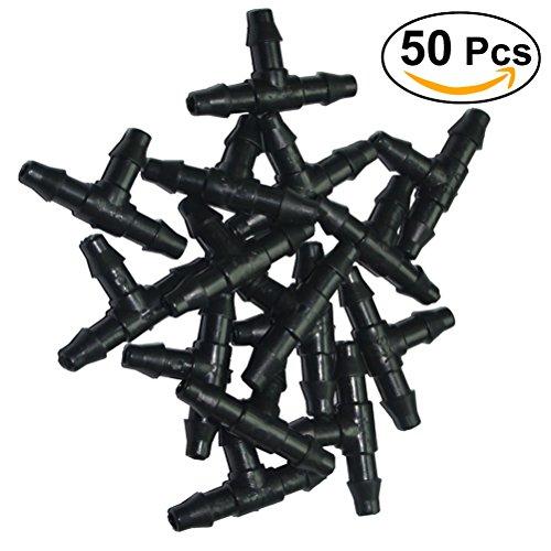 Ounona 50 pcs Buse de tuyau Tee Connecteurs goutte Outil de jardin pour tuyau 4/7 mm