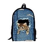 Lemaers- 3D - süße Katze/Hund Muster Tasche Rucksack Jungen mädchen im Rucksack Rucksack - Muster Schultertaschen perfekt für Schule und Reisen (Hund)