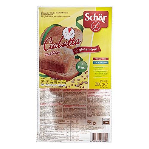 Schär Ciabatta Rustica-Mehrkornbrötchen, 200 g Packung