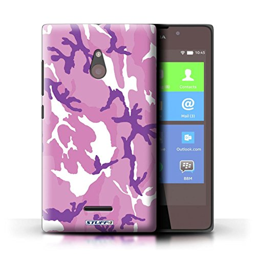 Kobalt® Imprimé Etui / Coque pour Nokia XL / Rose 3 conception / Série Armée/Camouflage Rose 4