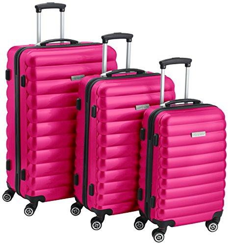 Luggagezone, Uni Koffer, rose (Pink) - LZ7010-S-P (Hardside Samsonite Gepäck)