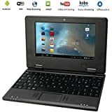 "G-Anica Netbook Ordinateur portable HDMI écr.7.0""- (Wifi, Ethernet, 1.5GHz 4 Go RAM 512 Mo) Tablette - Google Android 4.4.2 - Noir"