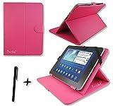 Rose Pink PU Leder Cover Case Protector & Ständer für ViewSonic ViewPad 10s 25,7cm Zoll Tablet PC + Eingabestift