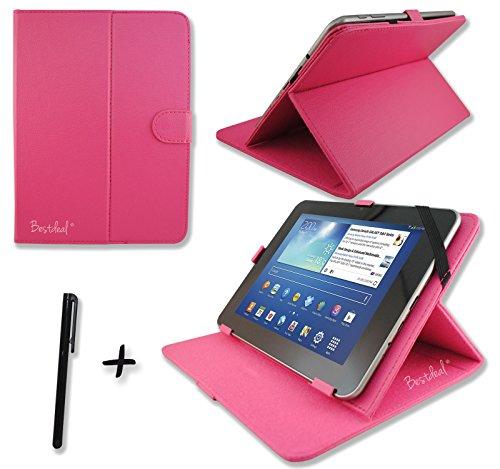 Rose Pink PU Leder Cover Case Protector & Ständer für Schenker ELEMENT 25,7cm Zoll Tablet PC + Eingabestift