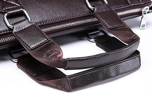 Beiläufige Art Und Weisemannhandtaschen-Geschäftshandtaschen-Schulterbeutel Kurierbeutel-Computer-Aktenkoffer Black