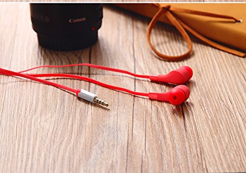Preisvergleich Produktbild New Style Ear phones Ear buds Red Head phones 3.5 mm w/Mic. Handsfree Call for BlackBerry Priv BlackBerry Leap BlackBerry Classic BlackBerry Porsche Design P'9983 BlackBerry Passport BlackBerry Classic BlackBerry Z3 BlackBerry Z30 BlackBerry 9720 BlackBerry Q5 BlackBerry Z10 BlackBerry Q10 BlackBerry 4G LTE BlackBerry Curve 9320 compatiable headphones by TB1Products